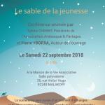 Conference Le Sable de la Jeunesse